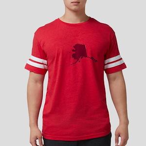 Alaska State Shape Outline Mens Football Shirt