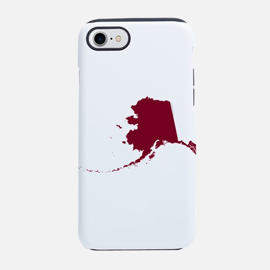 Alaska State Shape Outline iPhone 7 Tough Case