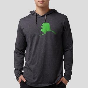 Alaska State Shape Outline Mens Hooded Shirt