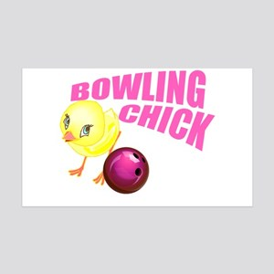 Bowling Chick 35x21 Wall Decal