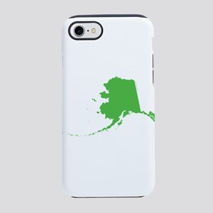 Alaska State Shape Outline iPhone 7 Tough Case