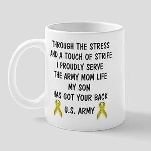 Army Mom My Son has got your back Poem Mug
