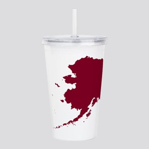 Alaska State Shape Out Acrylic Double-wall Tumbler