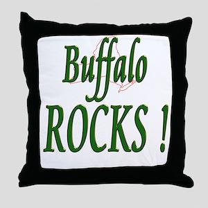 Buffalo Rocks ! Throw Pillow