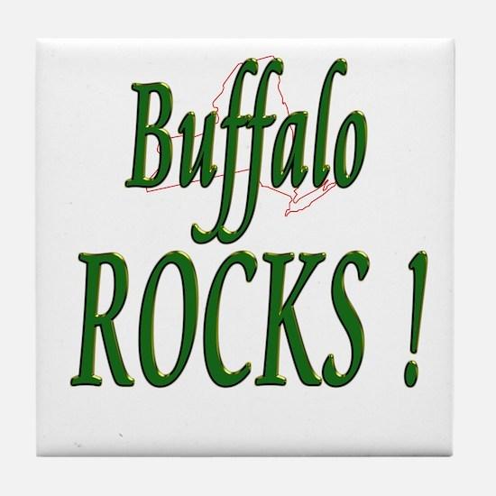 Buffalo Rocks ! Tile Coaster