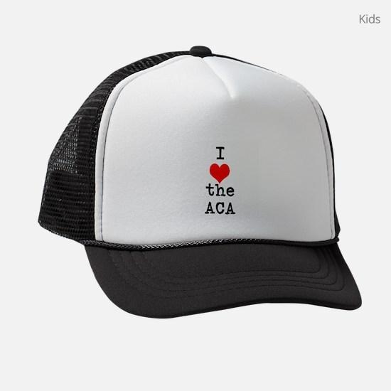 I Love the ACA Kids Trucker hat