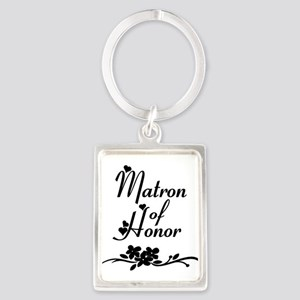 Classic Matron of Honor Portrait Keychain