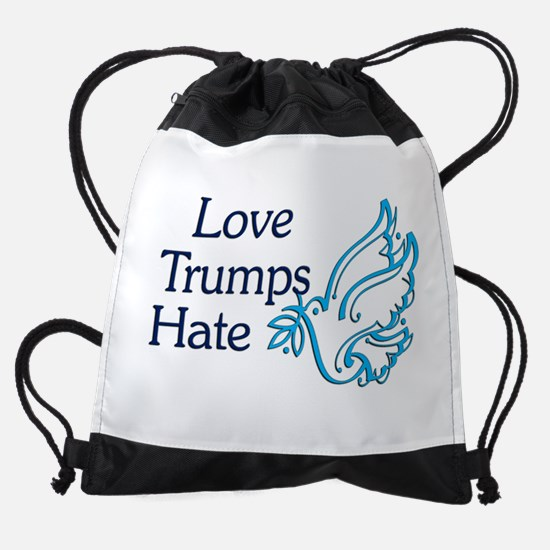 Love Trumps Hate Drawstring Bag