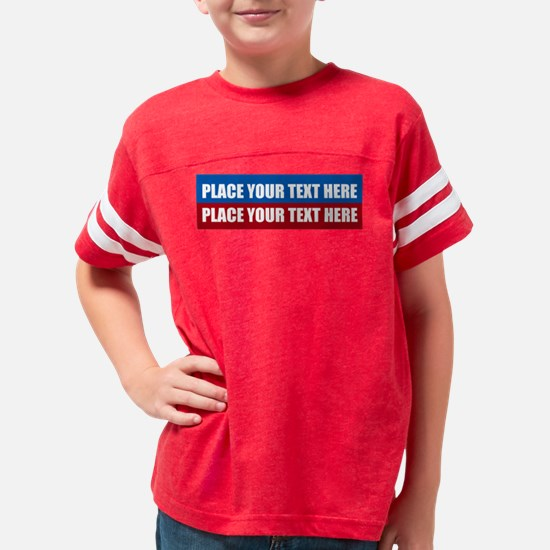 America Text Message Youth Football Shirt