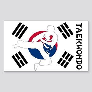 Taekwondo Sticker (Rectangle)