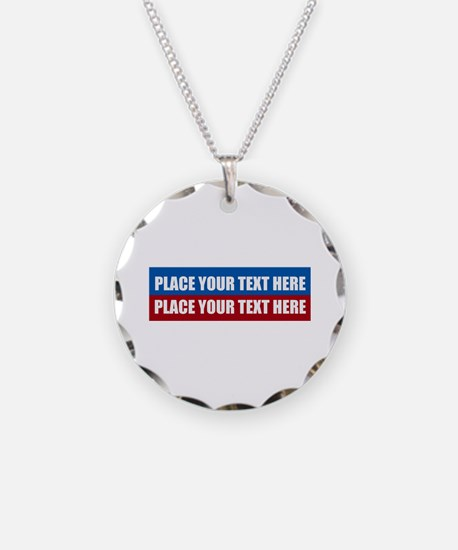 America Text Message Necklace Circle Charm