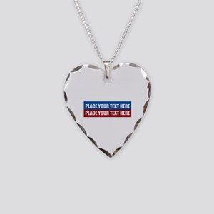 America Text Message Necklace Heart Charm