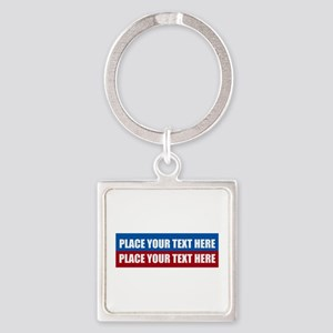 America Text Message Square Keychain