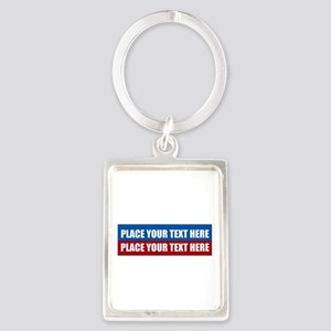 America Text Message Portrait Keychain