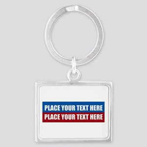 America Text Message Landscape Keychain