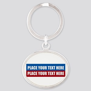 America Text Message Oval Keychain