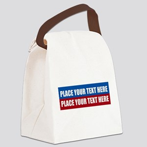 America Text Message Canvas Lunch Bag