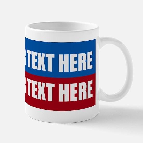 America Text Message Small Mugs
