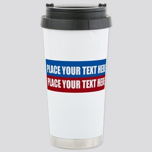 America Text Mes 16 oz Stainless Steel Travel Mug