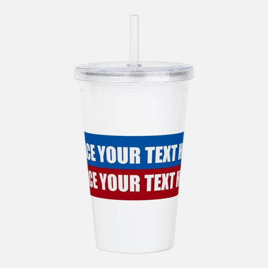 America Text Message Acrylic Double-wall Tumbler
