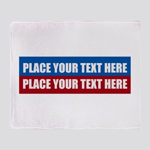 America Text Message Throw Blanket