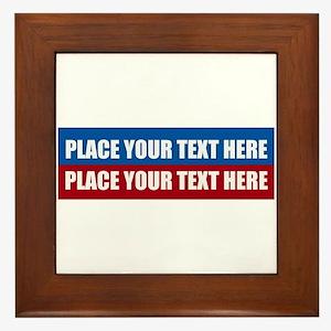 America Text Message Framed Tile