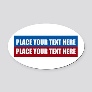 America Text Message Oval Car Magnet