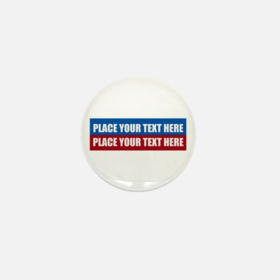 America Text Message Mini Button