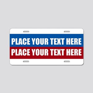 America Text Message Aluminum License Plate