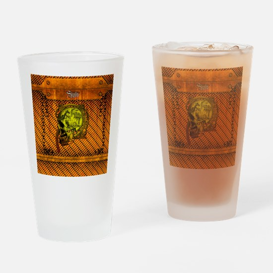 Scary mechanical skull Drinking Glass