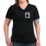 Armas Women's V-Neck Dark T-Shirt