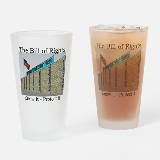 The Wall Against Tyranny Drinking Glass