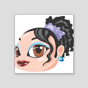 "Brown Eyed Girl Square Sticker 3"" x 3"""