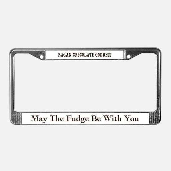Pagan Chocolate Goddess License Plate Frame
