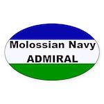Molossian Navy Admiral Sticker