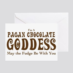 Pagan Chocolate Goddess Greeting Card