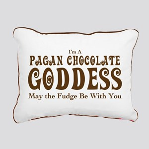 Pagan Chocolate Goddess Rectangular Canvas Pillow