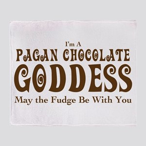 Pagan Chocolate Goddess Throw Blanket