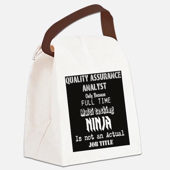 Cute Qa Canvas Lunch Bag