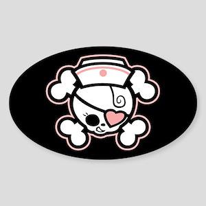 Dolly Heart RN Sticker (Oval)