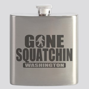 Gone Squatchin Washington *State Edition* Flask