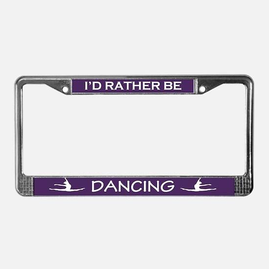 Cute Purple License Plate Frame