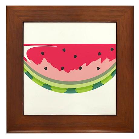Watermelon Slice Framed Tile