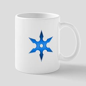 Shuriken Blue Ninja Star Mug