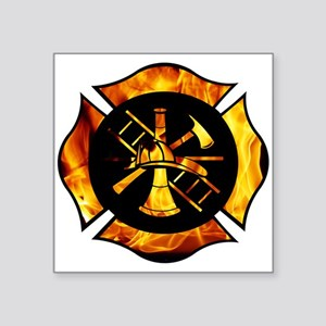 Flaming Maltese Cross Sticker