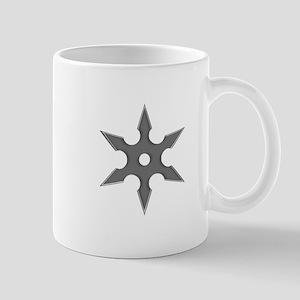 Shuriken Silver Ninja Star Mug