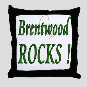 Brentwood Rocks ! Throw Pillow