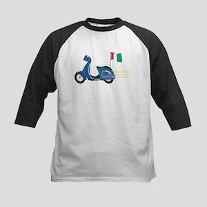 Italian Vespa Kids Baseball Jersey