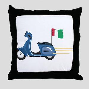 Italian Vespa Throw Pillow