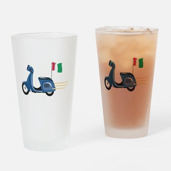 Italian Vespa Drinking Glass